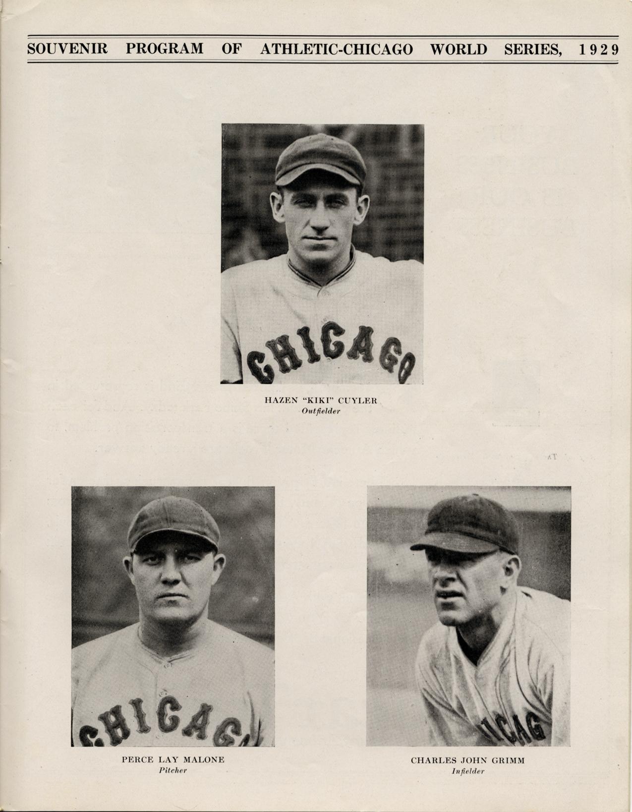 11467926224f4d 1929 World Series official souvenir program | DPL DAMS