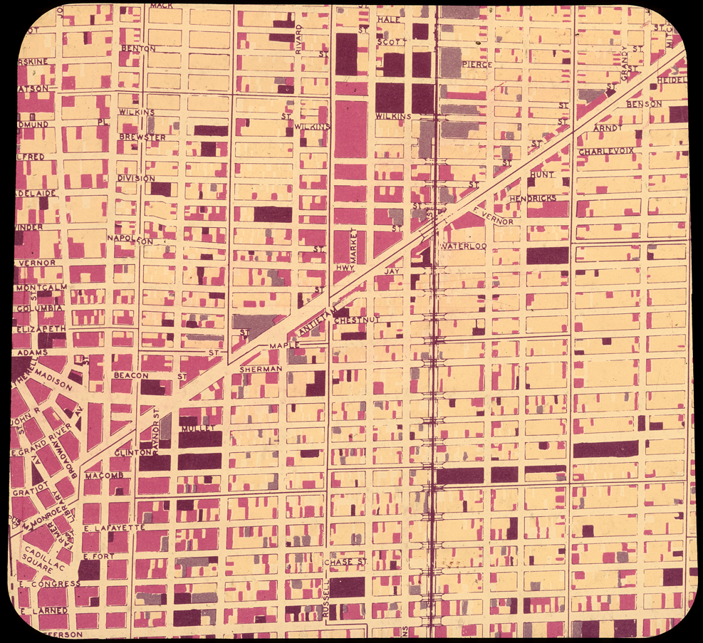 Street map of Detroit | DPL DAMS