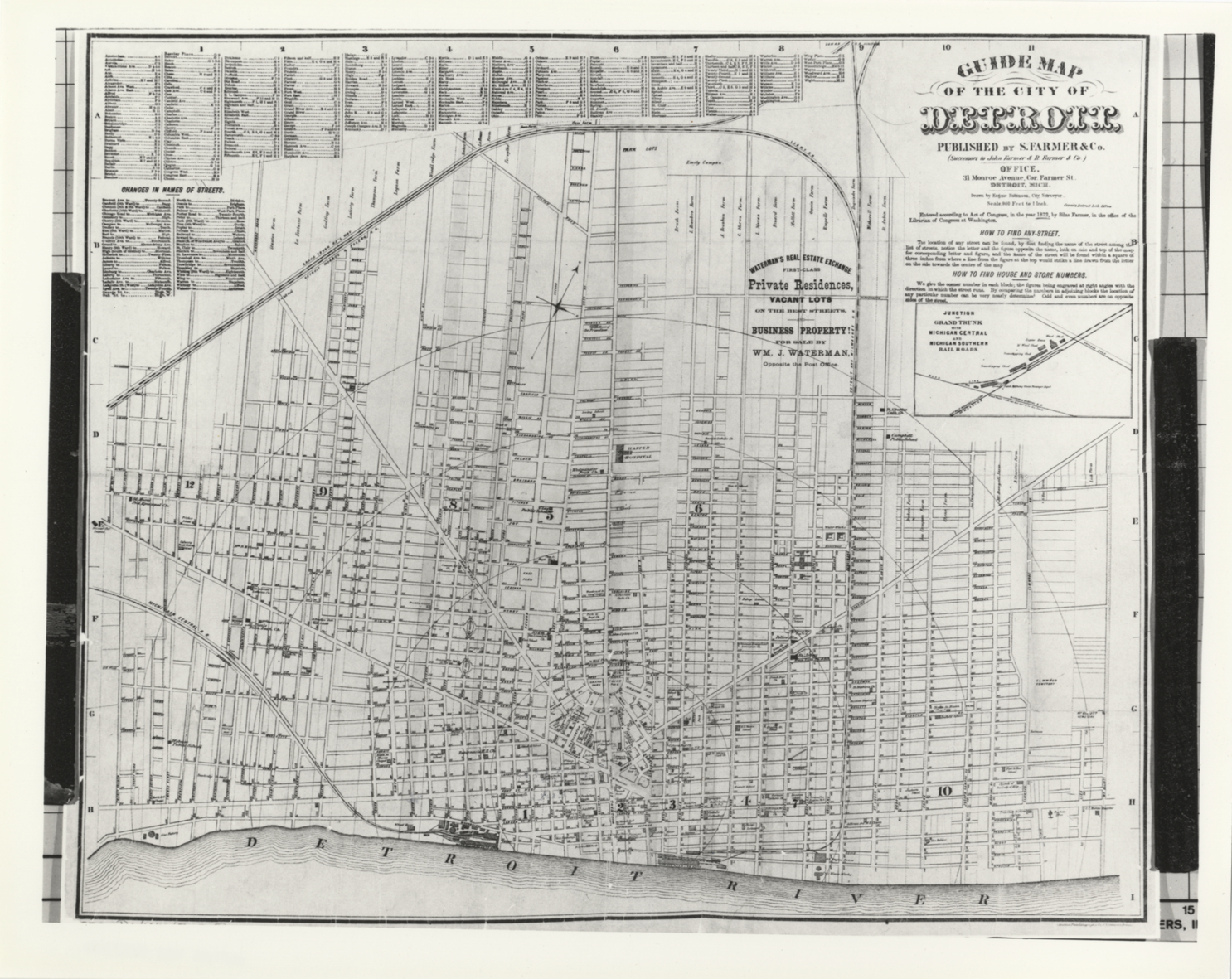 Guide map of the city of Detroit   DPL DAMS