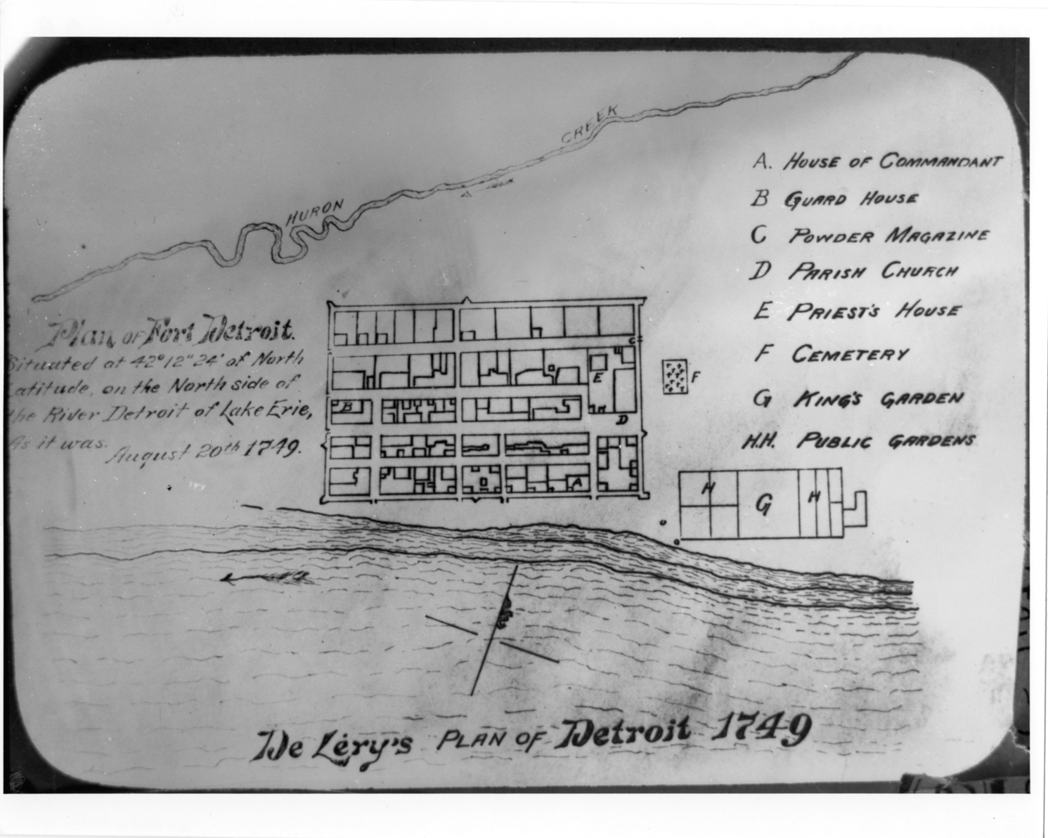 plan of fort detroit dpl dams https digitalcollections detroitpubliclibrary org islandora object islandora 3a142091