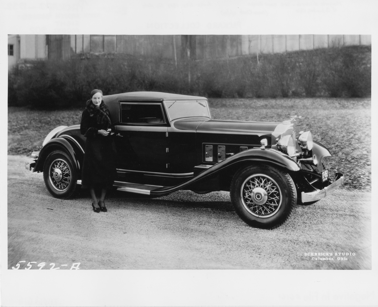 1932 Packard coupe roadster with Marjorie Hildreth of Columbus ...