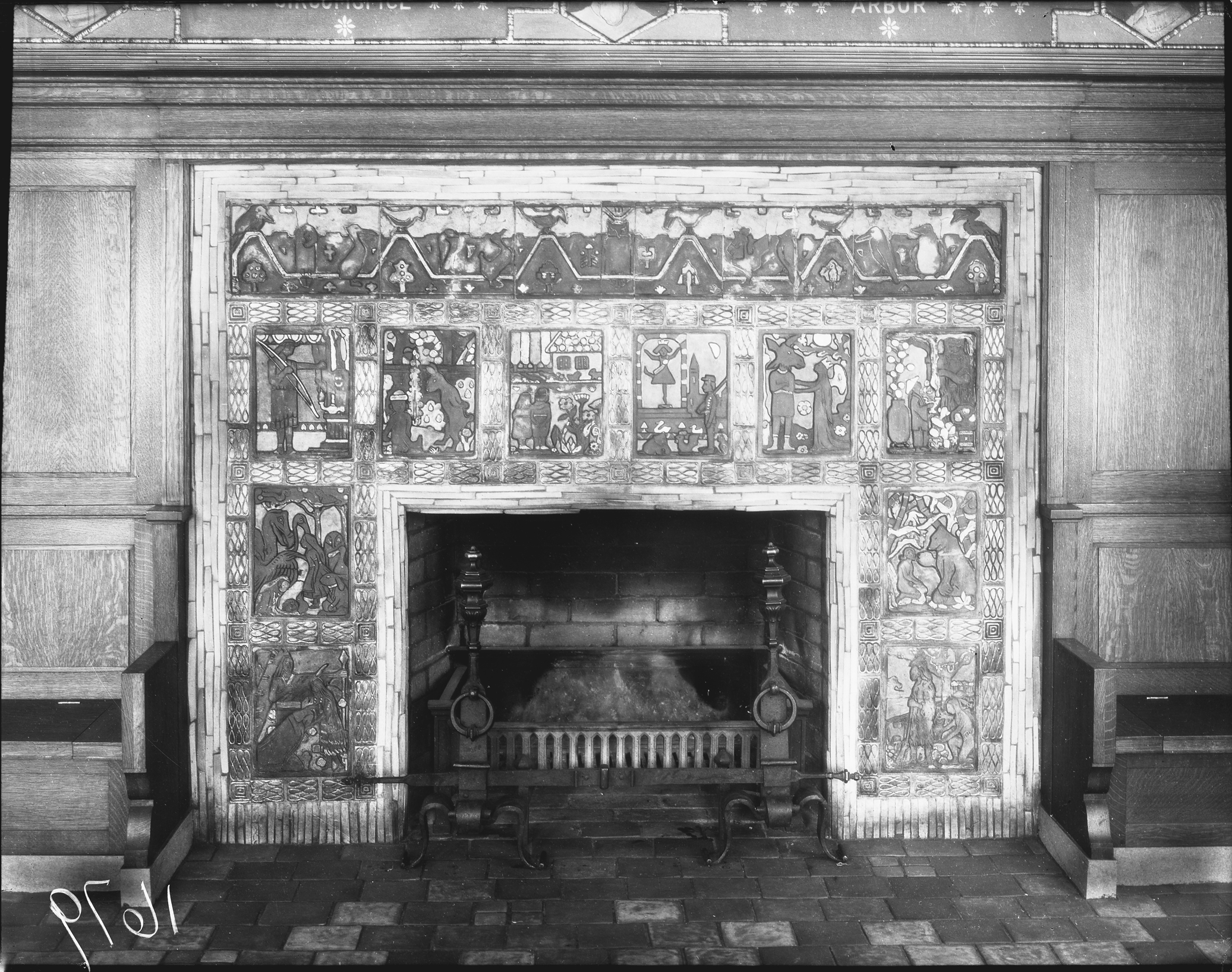 pewabic fireplace in children u0027s room at detroit public library