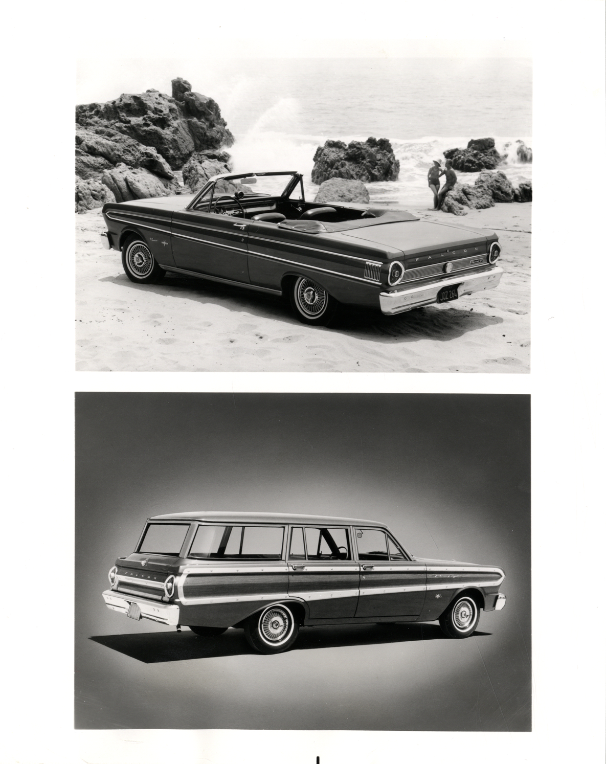 1964 Ford Falcon Sprint Automobile And Squire Station Wagon
