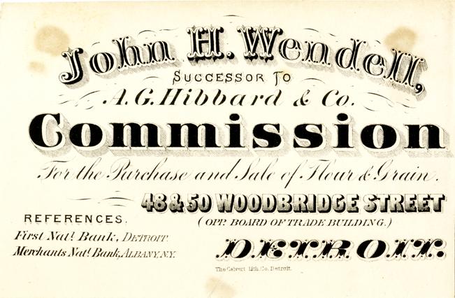 Business card for john h wendell dpl dams business card for john h wendell reheart Gallery