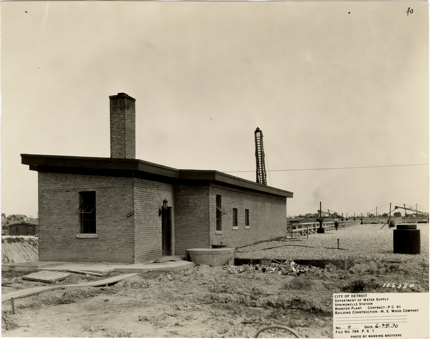 Booster plant during construction, Springwells Station