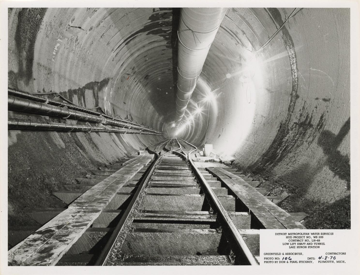 Raw water intake tunnel, Lake Huron Station, Detroit water